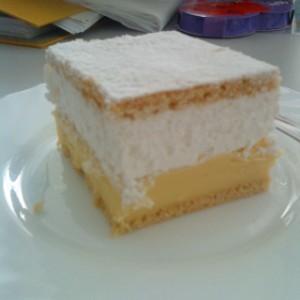 Felhő szelet sütemény fényképe