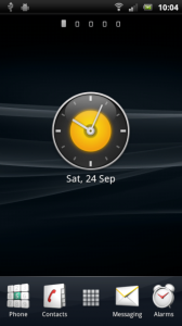 Ray Arc Analog Clock Widget