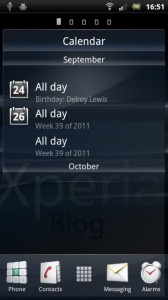 Ray Arc Calendar Widget